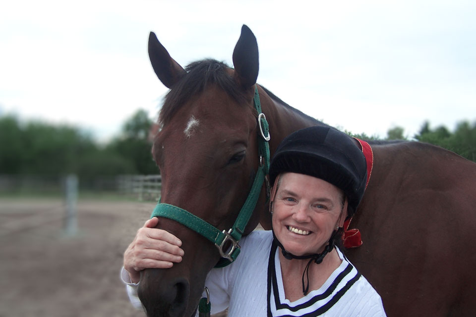 Absolute Charm and her new mom Carrie Dixon