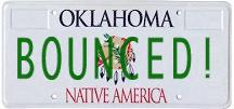 Bounced licenseplate