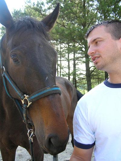 David Gunnels and OTTB Joe Bear - bonding.