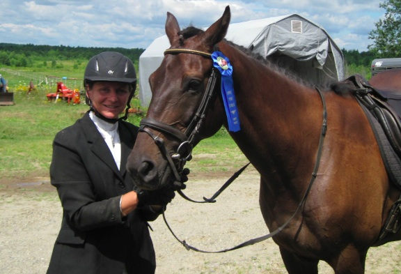 Shelby's Hill takes home the blue at his first show.