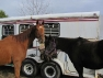 TK\'s Turn and Coin Maker hang out at the dressage show
