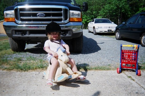 Elena on the Rocking Horse in 2007